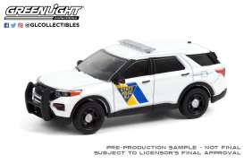 Ford  - Police Interceptor Utility 2021 white - 1:64 - GreenLight - 28060F - gl28060F | The Diecast Company