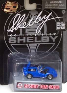 Shelby  - Cobra CSX2000 1962 blue - 1:64 - Shelby Collectibles - shelbyCobraCSX | The Diecast Company