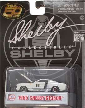 Shelby  - GT350R #98 1965 white/blue - 1:64 - Shelby Collectibles - shelbyGT350R-98 | The Diecast Company