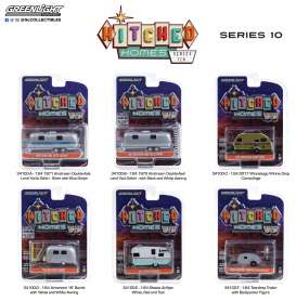 Assortment/ Mix  - Hitched homes series 10 various - 1:64 - GreenLight - 34100 - gl34100 | The Diecast Company
