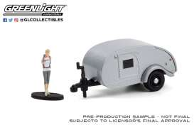 Teardrop Caravan  - 1972 silver - 1:64 - GreenLight - 34100F - gl34100F | The Diecast Company