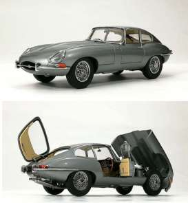 Jaguar  - E Type  gun metal - 1:18 - Kyosho - 08954GM - kyo8954GM | The Diecast Company