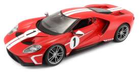 Ford  - 2017 red/white - 1:18 - Maisto - 31384R - mai31384R | The Diecast Company
