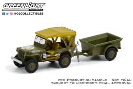 Willys  - MB Jeep 1943 green army - 1:64 - GreenLight - 32220A - gl32220A | The Diecast Company