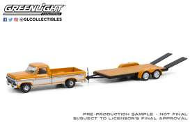 Ford  - F-150 1976 orange/white - 1:64 - GreenLight - 32220B - gl32220B | The Diecast Company