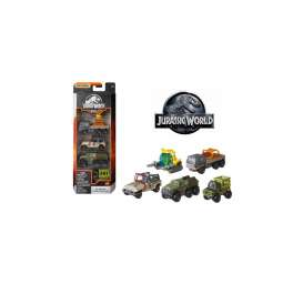 Assortment/ Mix  - Jurassic World 5-pack 2018 various - 1:64 - Matchbox - GPY75 - MBGPY75 | The Diecast Company