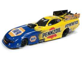 Dragster  - 2019 yellow/blue - 1:24 - Auto World - CP7553 - AWCP7553 | The Diecast Company
