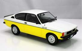 Opel  - Kadett 1977 white/yellow - 1:18 - Norev - 183650 - nor183650 | The Diecast Company