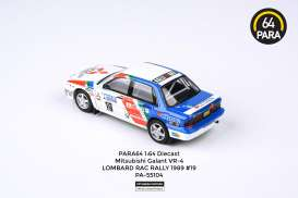 Mitsubishi  - Galant VR-4 Rally #19 1989 white/red/blue - 1:64 - Para64 - 55103 - pa55104 | The Diecast Company