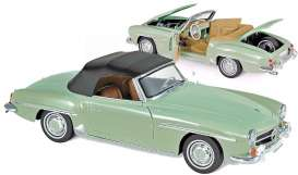 Mercedes Benz  - 190 SL 1957 green - 1:18 - Norev - 183401 - nor183401 | The Diecast Company