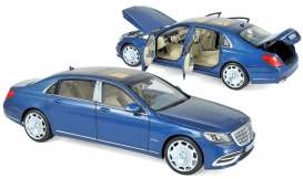 Mercedes Benz  - Maybach 2018 light blue metallic - 1:18 - Norev - 183425 - nor183425 | The Diecast Company