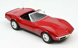 Chevrolet  - Corvette  1969 red - 1:18 - Norev - 189036 - nor189036 | The Diecast Company