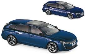 Peugeot  - 508 SW GT 2018 dark blue - 1:43 - Norev - 475828 - nor475828 | The Diecast Company