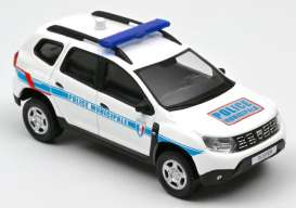 Dacia  - Duster 2018 white/blue - 1:43 - Norev - 509011 - nor509011 | The Diecast Company