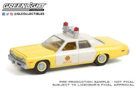 Dodge  - Monaco 1974 yellow/white - 1:64 - GreenLight - 42960A - gl42960A | The Diecast Company