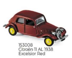 Citroen  - 1938 red - 1:87 - Norev - 153008 - nor153008 | The Diecast Company