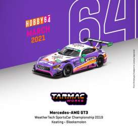 Mercedes Benz  - AMG GT3 2019 purple/white - 1:64 - Tarmac - T64-008-19WSC33 - TC-T64-00819WSC33 | The Diecast Company