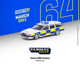 Volvo  - 850 Estate white/yellow/blue - 1:64 - Tarmac - T64-039-PC - TC-T64-039pc | The Diecast Company
