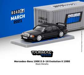 Mercedes Benz  - 190E black - 1:64 - Tarmac - T64R-024-BK - TC-T64R-024BK | The Diecast Company