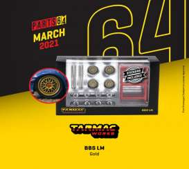 Rims & tires Wheels & tires - BBS gold - 1:64 - Tarmac - T64W-001-CE - TC-T64W001CE | The Diecast Company