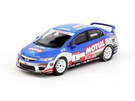 Honda  - Civic Type R 2008 blue/white/red - 1:64 - Tarmac - T64-018-08HEC01 - TC-T64-01808HEC01 | The Diecast Company