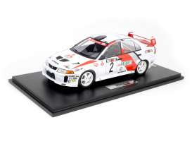 Mitsubishi  - Lancer 1998 red/white - 1:18 - Tarmac - T18-003-RB - TC-T18003RB | The Diecast Company