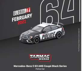 Mercedes Benz  - C63 AMG black - 1:64 - Tarmac - T64G-009-PC - TC-T64G009PC | The Diecast Company