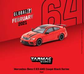 Mercedes Benz  - C63 AMG red - 1:64 - Tarmac - T64G-009-RE - TC-T64G009RE | The Diecast Company