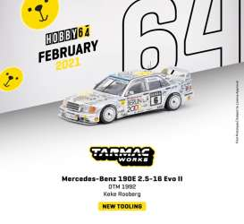 Mercedes Benz  - 190E white - 1:64 - Tarmac - T64-024-92DTM06 - TC-T64-02492DTM06 | The Diecast Company