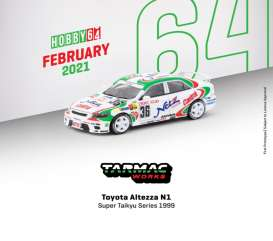 Toyota  - Altezza  1999 white/green - 1:64 - Tarmac - T64-019-99ST36 - TC-T64-01999ST36 | The Diecast Company