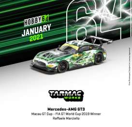 Mercedes Benz  - AMG GT3 2019 green/black - 1:64 - Tarmac - T64-008-19MGP999 - TC-T64-00819MGP999 | The Diecast Company