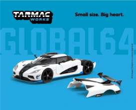Koenigsegg  - Agera white - 1:64 - Tarmac - T64G-005-RS1 - TC-T64G005RS1 | The Diecast Company