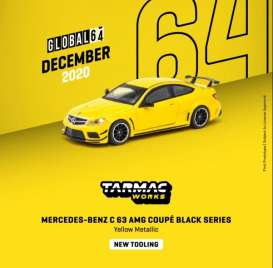 Mercedes Benz  - C63 AMG yellow - 1:64 - Tarmac - T64G-009-SB - TC-T64G009SB | The Diecast Company