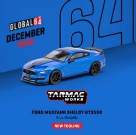Ford  - Mustang blue - 1:64 - Tarmac - T64G-011-BL - TC-T64G011BL | The Diecast Company