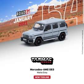 Mercedes Benz  - AMG G63 matt grey - 1:64 - Tarmac - T64R-040-GR - TC-T64R040GR | The Diecast Company