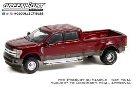 Ford  - 350 Dually 2019 red/grey - 1:64 - GreenLight - 46070F - gl46070F | The Diecast Company
