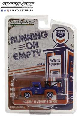 Ford  - F-100 1954 blue/orange - 1:64 - GreenLight - 41130A - gl41130A | The Diecast Company