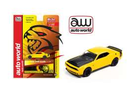 Dodge  - Challenger SRT Hellcat 2019 yellow/black - 1:64 - Auto World - cp7722 - awcp7722 | The Diecast Company