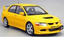 Mitsubishi  - Lancer 2005 yellow - 1:18 - Kyosho - A3202012 - kyoA3202012 | The Diecast Company