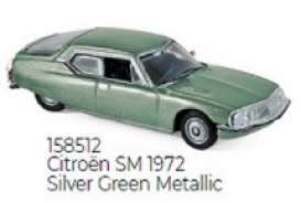 Citroen  - SM 1972 silver/green - 1:87 - Norev - 158512 - nor158512 | The Diecast Company