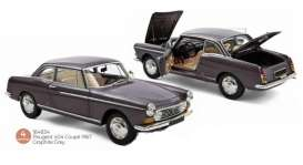 Peugeot  - 404 1967 grey - 1:18 - Norev - 184834 - nor184834 | The Diecast Company