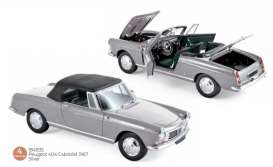 Peugeot  - 404 1967 silver - 1:18 - Norev - 184835 - nor184835 | The Diecast Company