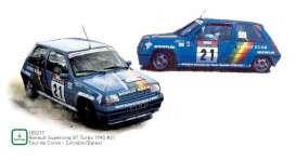 Renault  - supercinq 1990 blue - 1:18 - Norev - 185217 - nor185217 | The Diecast Company