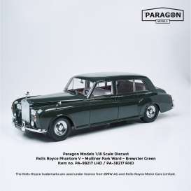 Rolls Royce  - Phantom V MPW Limousine 1964 racing green - 1:18 - Paragon - 98217L - para98217L | The Diecast Company