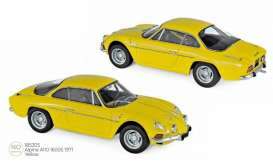 Alpine Renault - A110 1971 yellow - 1:18 - Norev - 185305 - nor185305 | The Diecast Company