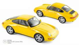 Porsche  - 911 1994 yellow - 1:18 - Norev - 187596 - nor187596 | The Diecast Company