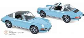 Porsche  - 911 1973 light blue - 1:18 - Norev - 187642 - nor187642 | The Diecast Company