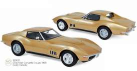 Chevrolet  - Corvette  1969 gold - 1:18 - Norev - 189031 - nor189031 | The Diecast Company