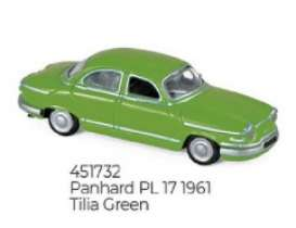 Panhard  - PL 17 1961 green - 1:87 - Norev - 451732 - nor451732 | The Diecast Company