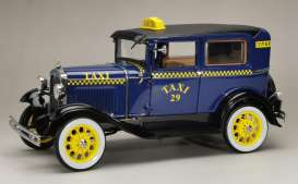 Ford  - Model A Tudor *Taxi* 1931 blue/yellow - 1:18 - SunStar - 6107 - sun6107 | The Diecast Company